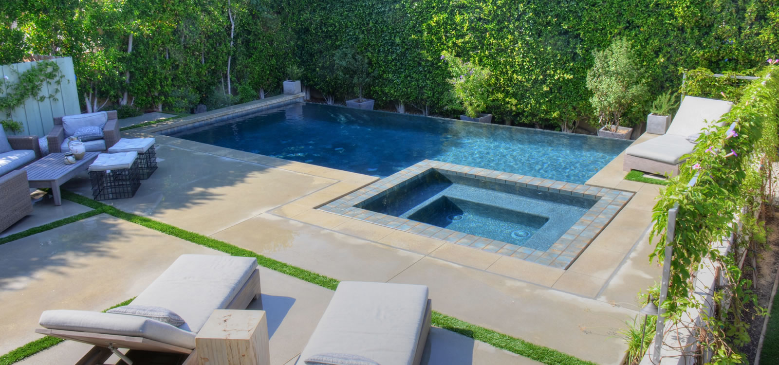 los angeles outdoor living spaces w pool spa custom