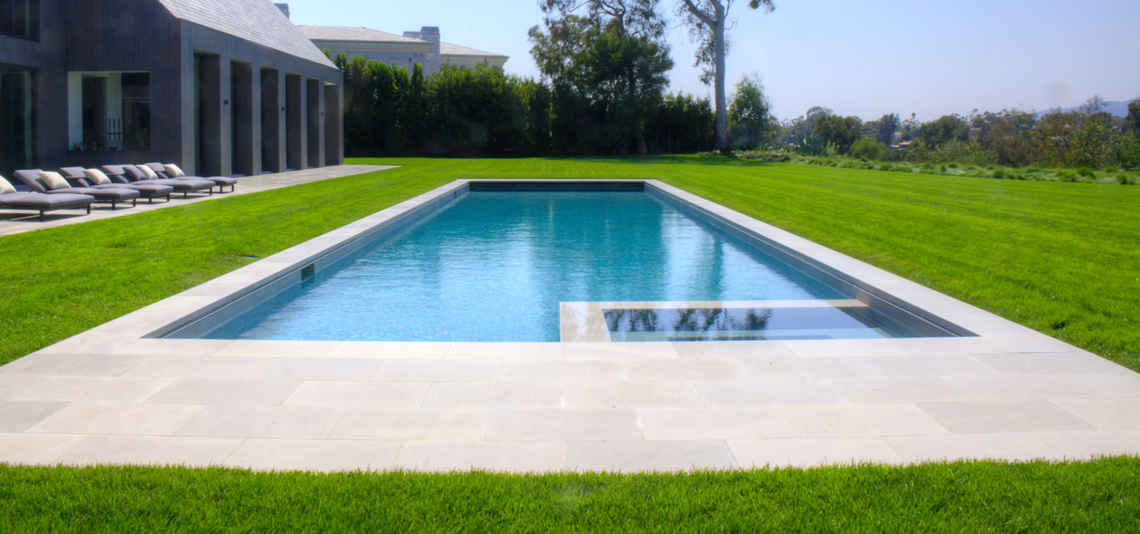 Santa Monica Pool & Spa Design w/ Pool Cover by John Crystal ...